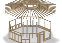 Holzkonstruktion Dach A3
